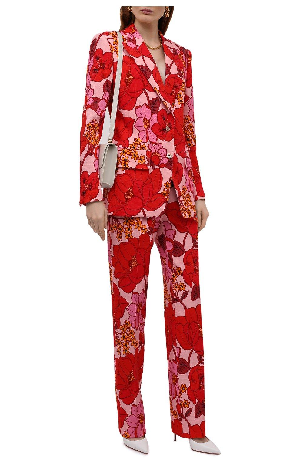 Женский жакет из вискозы TOM FORD красного цвета, арт. GI2811-FAP137   Фото 2 (Рукава: Длинные; Случай: Вечерний; Длина (для топов): Стандартные; 1-2-бортные: Однобортные; Материал внешний: Вискоза; Материал подклада: Вискоза; Стили: Романтичный; Женское Кросс-КТ: Жакет-одежда)