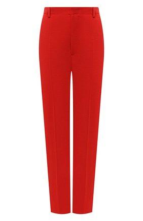 Женские шерстяные брюки SAINT LAURENT красного цвета, арт. 657665/Y288V   Фото 1