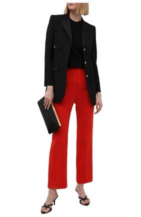 Женские шерстяные брюки SAINT LAURENT красного цвета, арт. 657665/Y288V   Фото 2