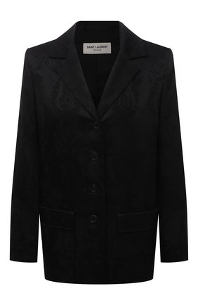 Женский жакет SAINT LAURENT черного цвета, арт. 648707/Y234T | Фото 1