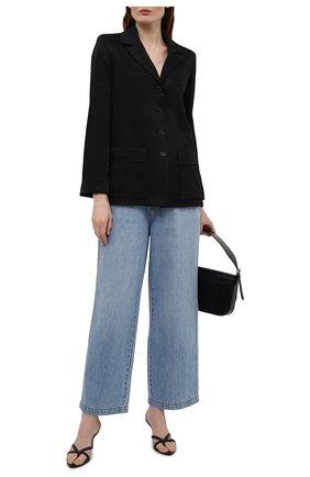 Женский жакет SAINT LAURENT черного цвета, арт. 648707/Y234T | Фото 2