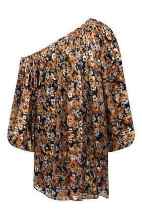 Женское шелковое платье SAINT LAURENT разноцветного цвета, арт. 644234/Y5C91   Фото 1