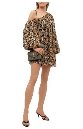 Женское шелковое платье SAINT LAURENT разноцветного цвета, арт. 644234/Y5C91   Фото 2