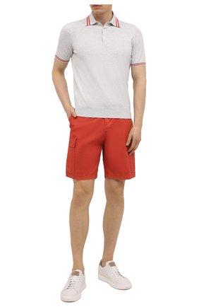 Мужские шорты BRUNELLO CUCINELLI красного цвета, арт. M289LV0310   Фото 2