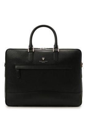 Мужская кожаная сумка для ноутбука ASPINAL OF LONDON черного цвета, арт. 011-2296_14210000 | Фото 1