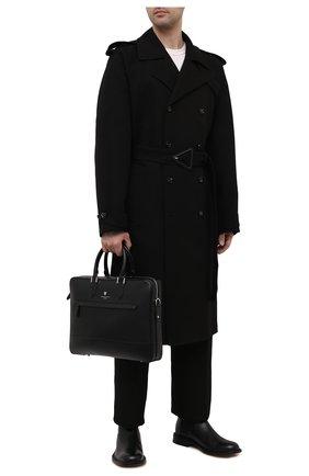 Мужская кожаная сумка для ноутбука ASPINAL OF LONDON черного цвета, арт. 011-2296_14210000 | Фото 2