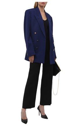 Женские комбинированные туфли love 100 JIMMY CHOO черного цвета, арт. L0VE 100/UEU | Фото 2
