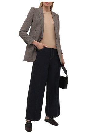 Женские кожаные сабо BRUNELLO CUCINELLI темно-коричневого цвета, арт. MZAIC1373 | Фото 2