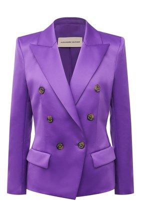 Женский двубортный жакет ALEXANDRE VAUTHIER фиолетового цвета, арт. 212JA802BIS 1458-212 | Фото 1