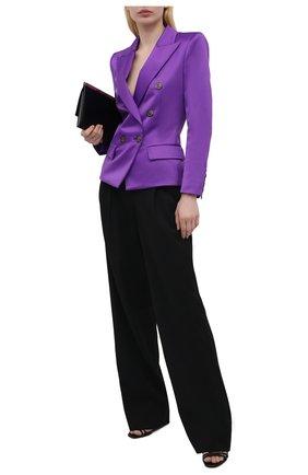 Женский двубортный жакет ALEXANDRE VAUTHIER фиолетового цвета, арт. 212JA802BIS 1458-212 | Фото 2