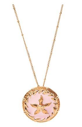 Женская кулон на цепочке trésor de la mer VERSACE розового цвета, арт. DG1I102/DJMS | Фото 2 (Материал: Металл)