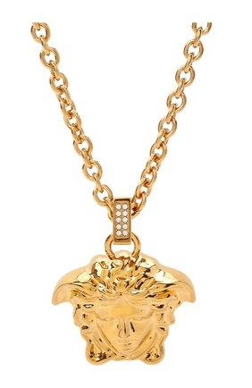 Женская кулон на цепочке la medusa VERSACE золотого цвета, арт. DG1I125/DJMX | Фото 2 (Материал: Металл)