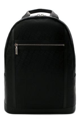 Мужской текстильный рюкзак ZILLI черного цвета, арт. MJL-0BR05-J0440/0001   Фото 1 (Материал: Текстиль)