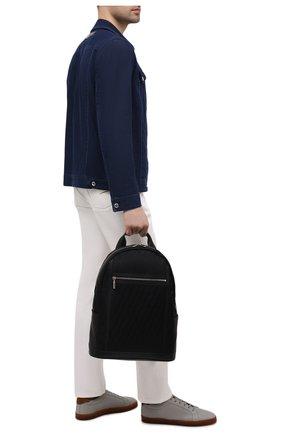 Мужской текстильный рюкзак ZILLI черного цвета, арт. MJL-0BR05-J0440/0001   Фото 2 (Материал: Текстиль)