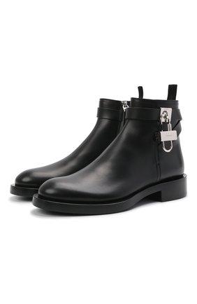 Мужские кожаные сапоги GIVENCHY черного цвета, арт. BH6031H0VL | Фото 1