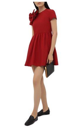 Женское платье REDVALENTINO красного цвета, арт. VR0VAY85/5S3   Фото 2 (Материал внешний: Синтетический материал, Хлопок; Длина Ж (юбки, платья, шорты): Мини; Случай: Коктейльный; Стили: Романтичный; Женское Кросс-КТ: Платье-одежда; Рукава: Короткие)