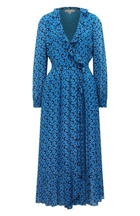 Женское платье из вискозы MICHAEL MICHAEL KORS голубого цвета, арт. MS18Y8Z1BZ | Фото 1