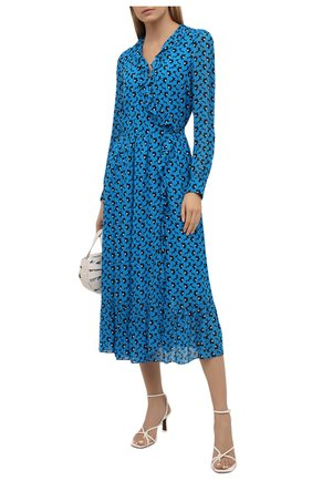Женское платье из вискозы MICHAEL MICHAEL KORS голубого цвета, арт. MS18Y8Z1BZ | Фото 2