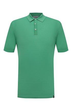 Мужское хлопковое поло JACOB COHEN зеленого цвета, арт. J4004 02383-ZR/55 | Фото 1