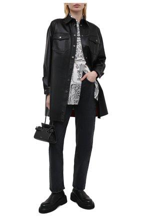 Женские джинсы AGOLDE черного цвета, арт. A154B-1207 | Фото 2