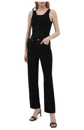 Женские кожаные босоножки BRUNELLO CUCINELLI черного цвета, арт. MZBSC2016P | Фото 2 (Подошва: Плоская; Материал внутренний: Натуральная кожа)