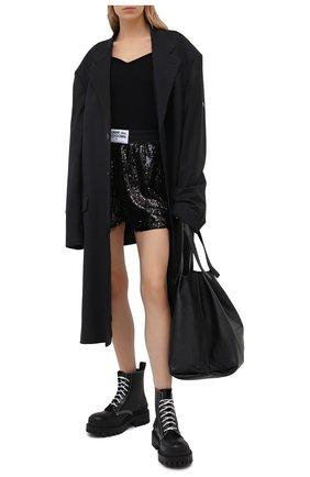 Женские шорты с пайетками COMME DES FUCKDOWN черного цвета, арт. CDFD1495 | Фото 2