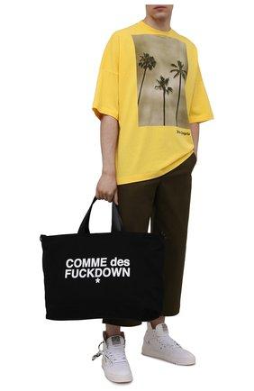Мужская текстильная сумка COMME DES FUCKDOWN черного цвета, арт. CDFA533   Фото 2