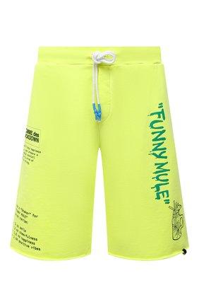 Мужские хлопковые шорты COMME DES FUCKDOWN светло-зеленого цвета, арт. CDFU1145   Фото 1