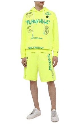 Мужские хлопковые шорты COMME DES FUCKDOWN светло-зеленого цвета, арт. CDFU1145   Фото 2
