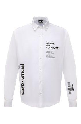 Мужская хлопковая рубашка COMME DES FUCKDOWN белого цвета, арт. CDFU1198 | Фото 1