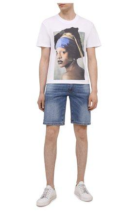 Мужские джинсовые шорты COMME DES FUCKDOWN синего цвета, арт. CDFU1205 | Фото 2