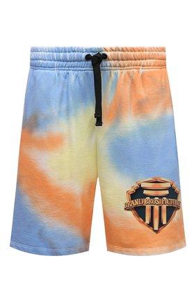 Мужские хлопковые шорты DIEGO VENTURINO разноцветного цвета, арт. SS21-DV SRT TIEDYE-U | Фото 1