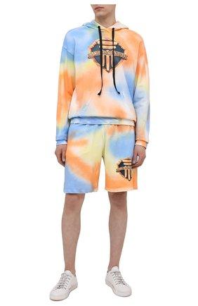 Мужские хлопковые шорты DIEGO VENTURINO разноцветного цвета, арт. SS21-DV SRT TIEDYE-U | Фото 2