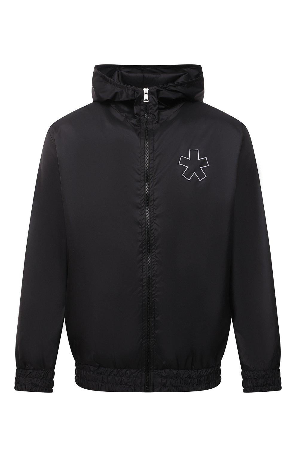 Мужской бомбер COMME DES FUCKDOWN черного цвета, арт. CDFU1159 | Фото 1 (Кросс-КТ: Куртка; Рукава: Длинные; Материал внешний: Синтетический материал; Принт: С принтом; Стили: Спорт-шик; Мужское Кросс-КТ: Куртка-верхняя одежда; Длина (верхняя одежда): Короткие)