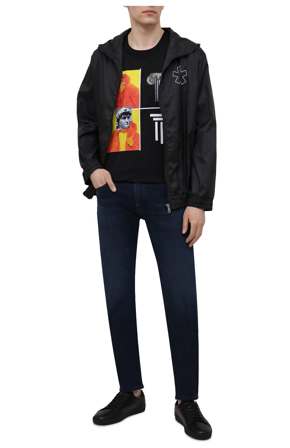 Мужской бомбер COMME DES FUCKDOWN черного цвета, арт. CDFU1159 | Фото 2 (Кросс-КТ: Куртка; Рукава: Длинные; Материал внешний: Синтетический материал; Принт: С принтом; Стили: Спорт-шик; Мужское Кросс-КТ: Куртка-верхняя одежда; Длина (верхняя одежда): Короткие)