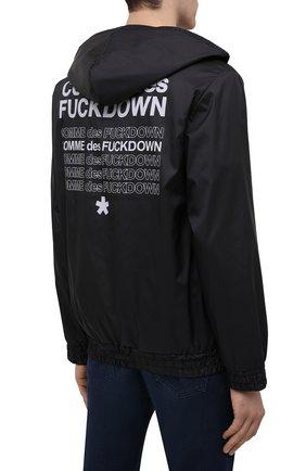 Мужской бомбер COMME DES FUCKDOWN черного цвета, арт. CDFU1159 | Фото 4 (Кросс-КТ: Куртка; Рукава: Длинные; Материал внешний: Синтетический материал; Принт: С принтом; Стили: Спорт-шик; Мужское Кросс-КТ: Куртка-верхняя одежда; Длина (верхняя одежда): Короткие)