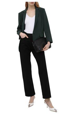 Женские кожаные туфли ALEXANDER MCQUEEN белого цвета, арт. 651709/WHV7B | Фото 2 (Материал внутренний: Натуральная кожа; Подошва: Плоская; Каблук тип: Шпилька; Каблук высота: Средний)