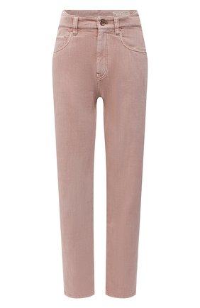 Женские джинсы BRUNELLO CUCINELLI розового цвета, арт. MP93PP5596 | Фото 1