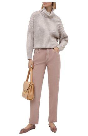 Женские джинсы BRUNELLO CUCINELLI розового цвета, арт. MP93PP5596 | Фото 2