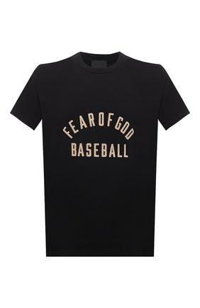 Мужская хлопковая футболка FEAR OF GOD черного цвета, арт. FG50-063CTJ | Фото 1