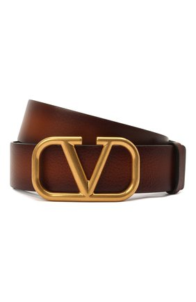 Женский кожаный ремень  VALENTINO коричневого цвета, арт. VW0T0S11/EET | Фото 1