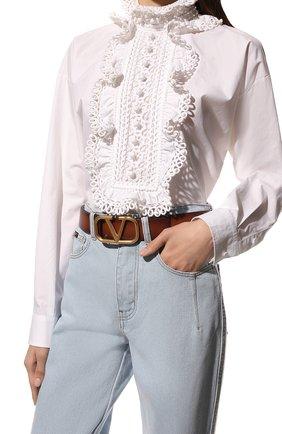 Женский кожаный ремень  VALENTINO коричневого цвета, арт. VW0T0S11/EET | Фото 2