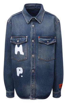 Женская джинсовая рубашка HERON PRESTON синего цвета, арт. HWYD001R21DEN0014001   Фото 1