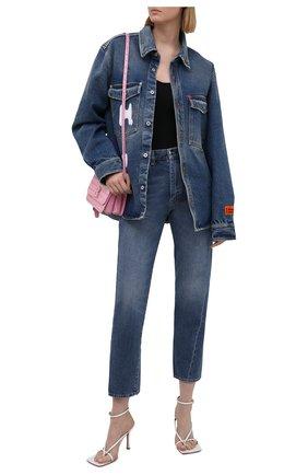 Женская джинсовая рубашка HERON PRESTON синего цвета, арт. HWYD001R21DEN0014001   Фото 2