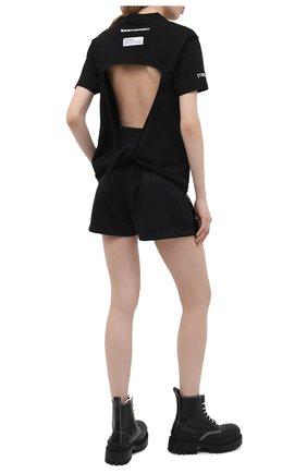 Женская хлопковая футболка HERON PRESTON черного цвета, арт. HWAA026R21JER0011001   Фото 2