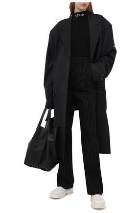Женское боди из вискозы HERON PRESTON черного цвета, арт. HWHA004R21KNI0011000 | Фото 2