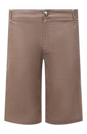 Мужские льняные шорты ZILLI SPORT коричневого цвета, арт. M0V-D0176-LIN01/R001   Фото 1