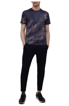Мужская хлопковая футболка CANALI темно-синего цвета, арт. T0003/MJ01158   Фото 2