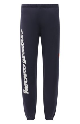 Мужские хлопковые джоггеры HERON PRESTON синего цвета, арт. HMCH014S21JER0010701 | Фото 1 (Мужское Кросс-КТ: Брюки-трикотаж, Джоггеры-одежда; Силуэт М (брюки): Джоггеры; Материал внешний: Хлопок; Стили: Спорт-шик; Длина (брюки, джинсы): Стандартные)