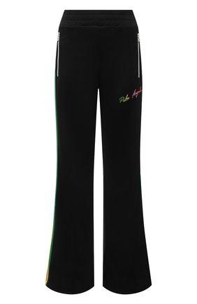 Женские брюки PALM ANGELS черного цвета, арт. PWCA058S21FAB0031084   Фото 1
